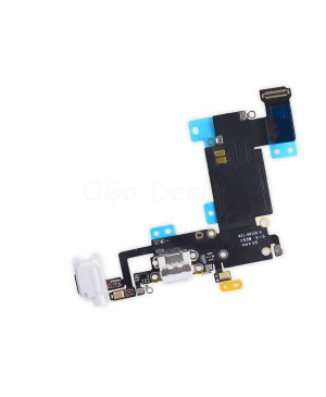 Apple iPhone 6S Plus Charging Dock Connector and Headphone Jack Flex Cable Replacement, High Quality - White