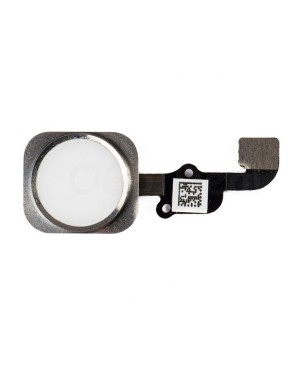Apple iPhone 6S Plus Home Button With Home Flex Cable Assembly, High Quality - Silver