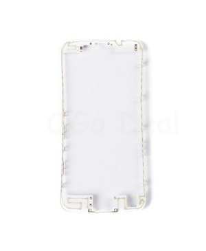 Apple iPhone 6S Front Frame with Hot Glue, Ori - White