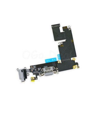 Apple iPhone 6 Plus Charging Dock Connector and Headphone Jack Flex Cable Replacement, High Quality, Dark Gray