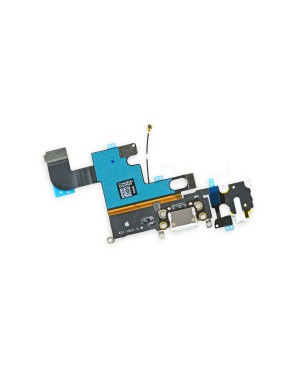 Apple iPhone 6 Charging Dock Connector and Headphone Jack Flex Cable Replacement, High Quality, White