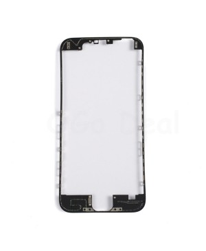 Apple iPhone 6 Front Frame with Hot Glue, Ori - Black