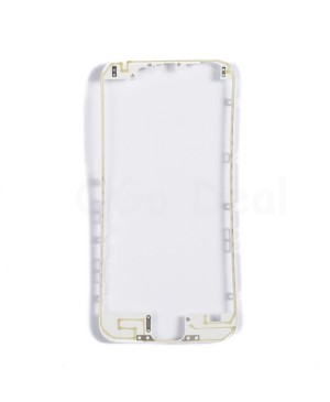Apple iPhone 6 Front Frame with Hot Glue, Ori - White