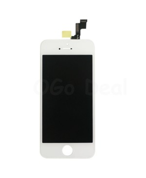 Apple iPhone 5S Digitizer and LCD Screen Assembly with Frame Replacement - White, (Aftermarket LCD TM)
