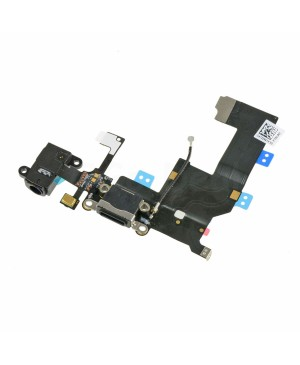 Apple iPhone 5 Charging Dock Connector and Headphone Jack Flex Cable Replacement, Ori New, Black