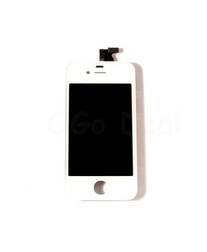Apple iPhone 4S Digitizer and LCD Screen Assembly with Frame Replacement - White(Aftermarket LCD)