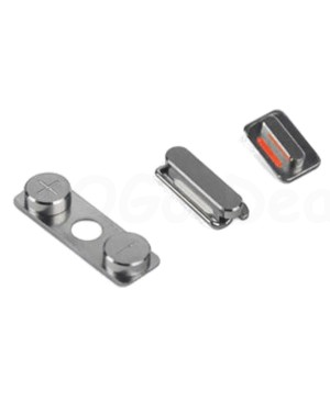 Apple iPhone 4S Side Button Key Set - Silver
