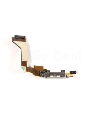 Apple iPhone 4 Charging Dock Connector Flex Cable Replacement, High Quality, White