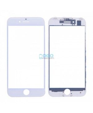 Front Outer Screen Glass Lens with Frame Replacement for iPhone 7 - White (Cold Glue)
