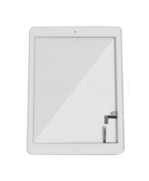 iPad Air Glass and Digitizer with Home Button Flex Assembly, High Quality - White