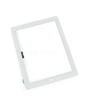 iPad 3/4 Front Glass and Digitizer Touch Panel, High Quality - White