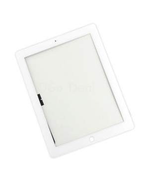 iPad 4 Glass and Digitizer with Home Button Flex Assembly,High Quality - White