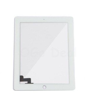 iPad 2 Front Glass and Digitizer Touch Panel, High Quality - White