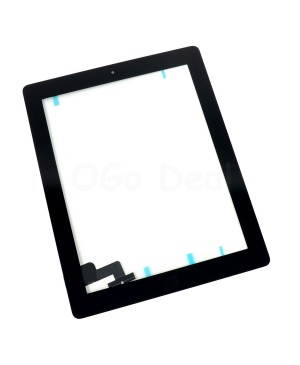 iPad 2 Glass and Digitizer with Home Button Flex Assembly,High Quality - Black