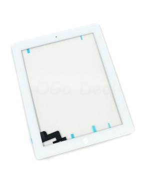 iPad 2 Glass and Digitizer with Home Button Flex Assembly,High Quality - White