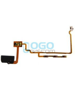 Headphone Jack Audio Flex Cable Replacement for iPod Nano 7th Gen Black