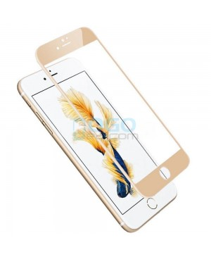iPhone 6 6S Full Coverage 9H 3D Curved Tempered Glass Screen Protector Film Gold With retail Packing Box