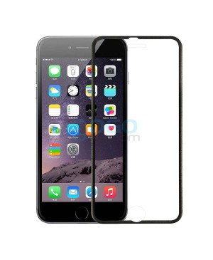 iPhone 6 Plus/6S Plus Titanium Alloy Full Cover Tempered Glass Screen Protector Film Black With retail Packing Box