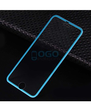 iPhone 6 Plus/6S Plus Titanium Alloy Full Cover Tempered Glass Screen Protector Film Blue With retail Packing Box