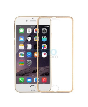 iPhone 6 Plus/6S Plus Titanium Alloy Full Cover Tempered Glass Screen Protector Film Gold With retail Packing Box