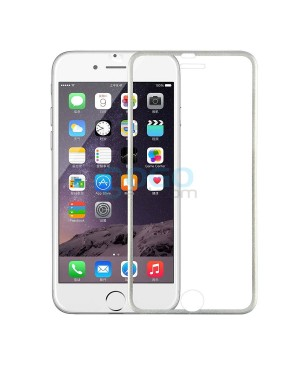 iPhone 7 Plus Titanium Alloy Full Cover Tempered Glass Screen Protector Film Silver With retail Packing Box
