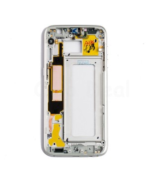 LCD front Support Frame for Samsung Galaxy S7 Edge  - White