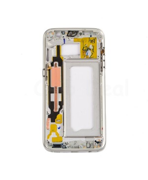 LCD front Support Frame for Samsung Galaxy S7 (G930F) - White