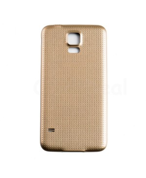 Battery Door/Back Cover Replacement with Water-proof Gasket for Samsung Galaxy S5 Gold