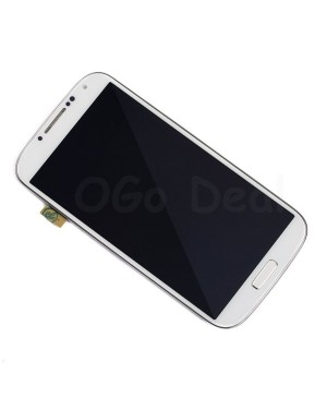 LCD Screen and Digitizer Assembly with Frame Replacement for Samsung Galaxy S 4 IV  i337 M919 - White