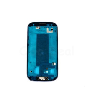 For Samsung Galaxy S3 III i9305 Faceplate Front Bezel Middle Plate Frame - Blue