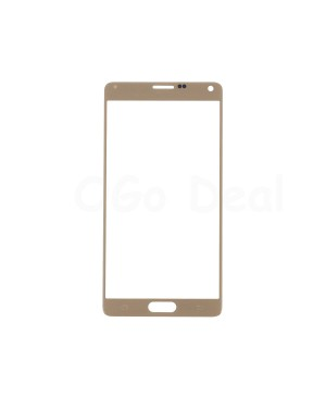 Front Glass Lens Replacement for Samsung Galaxy Note 4 Gold