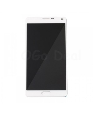 LCD Screen and Digitizer Assembly Replacement for Samsung Galaxy Note 4 - White