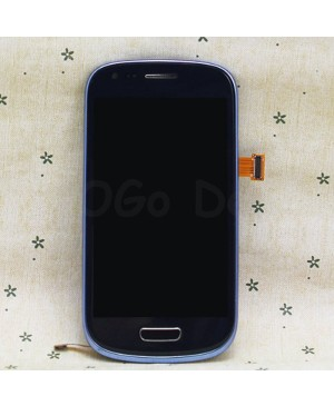 LCD Screen and Digitizer Assembly Replacement for Samsung Galaxy S3 Mini i8190 - Blue
