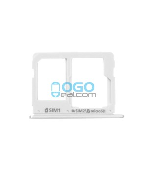 SIM Card Tray and Micro SD Card Tray Replacement for Samsung Galaxy A7 (2016) A7100/A3100/A5100- Silver