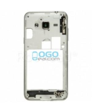 Middle Frame Bezel  - White for Samsung Galaxy J3 (2016)