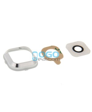 Replacement for Samsung Galaxy A7 / A7000 Rear Camera Lens Cover with Holder - White