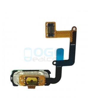 Back Home Button Fingerprint Sensor Flex Cable Replacement for Samsung Galaxy A7 2017 Black
