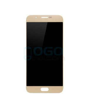LCD & Digitizer Touch Screen Assembly Replacement for Samsung Galaxy A8 - Gold