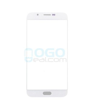 Front Outer Screen Glass Lens Replacement for Samsung Galaxy A8 - White