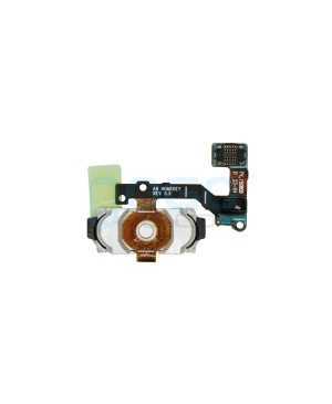 Back Home Button Fingerprint Sensor Flex Cable Replacement for Samsung Galaxy A8 Black