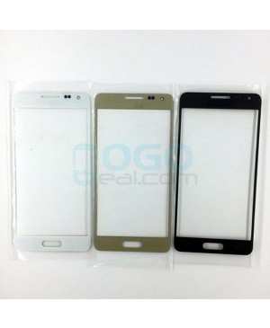 Front Outer Screen Glass Lens Replacement for Samsung Galaxy Alpha - Black