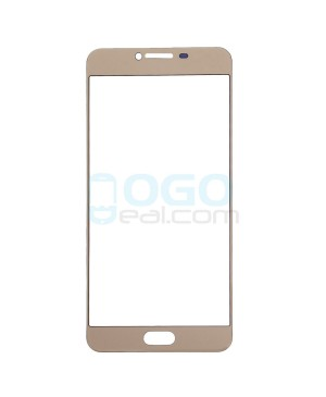 Front Outer Screen Glass Lens Replacement for Samsung Galaxy C7 - Gold