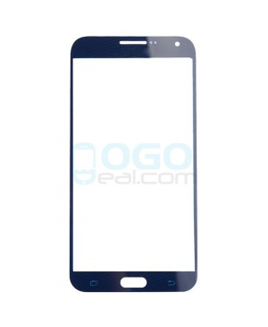 Front Outer Screen Glass Lens Replacement for Samsung Galaxy E7 - Dark Blue