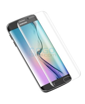 Samsung Galaxy S6 Edge Full Coverage Tempered Glass Screen Protector Film Guard 9H Clear With retail Packing Box