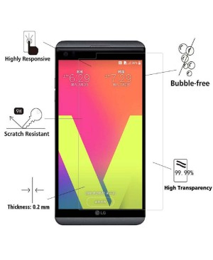 LG V20 Tempered Glass Screen Protector Film Guard 9H With retail Packing Box