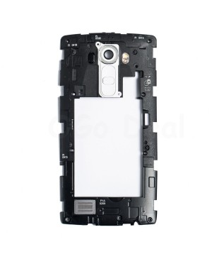 LG G4 Middle Frame with Loudspeaker Assembly - White Lens