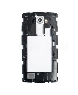 LG G4 Middle Frame with Loudspeaker Assembly - White Lens
