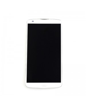 LCD & Digitizer Touch Screen Assembly With Frame replacement for lg G Pro 2 F350 - White