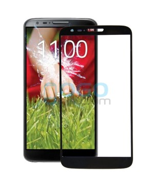 Front Outer Screen Glass Lens Replacement for LG G2 D800 - Black