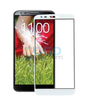 Front Outer Screen Glass Lens Replacement for LG G2 D800 - White